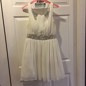 White Formal Dress with Sequins